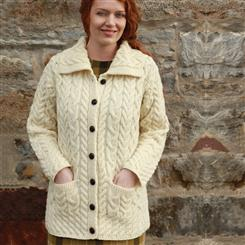 Genuine Irish Wool Cardigan with Pockets