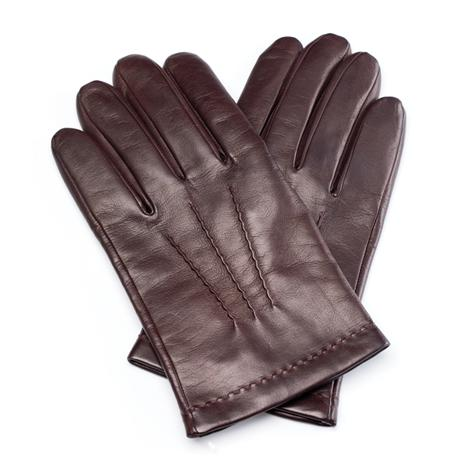 Men's Italian Leather Gloves (Brown)