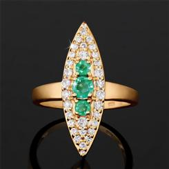 Zambian Emerald Safari Ring