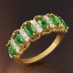 Evergreen Helenite Ring
