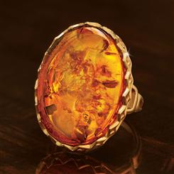 Amber Intrigue Ring