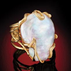 Italia Baroque Pearl Ring