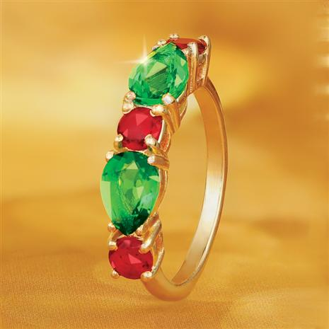 Helenite Holiday Ring