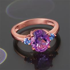 Ultimate Amethyst & Tanzanite Ring