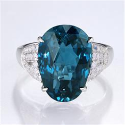 Fancy Cut London Blue Topaz Ring
