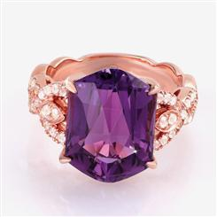 Fancy Cut Gemstone Amethyst Ring