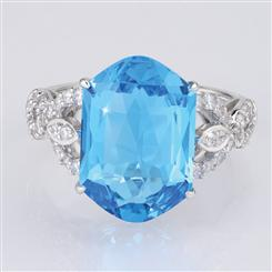 Fancy Cut Swiss Topaz Ring