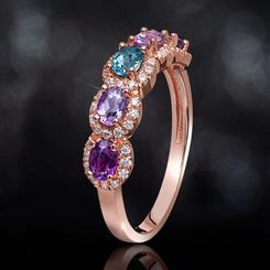 Amethyst & London Blue Topaz Ring