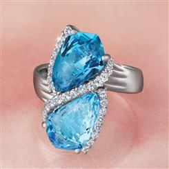 Blue Topaz Infinity Ring