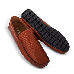 Amalfi Driving Shoes Woven Loafer - Brown